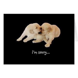 """""""Eu sou"""" amor de filhote de cachorro pesaroso Cartão Comemorativo"""