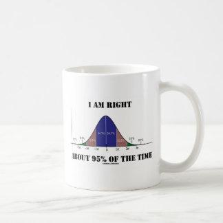 Eu sou aproximadamente 95% direito do humor da caneca de café