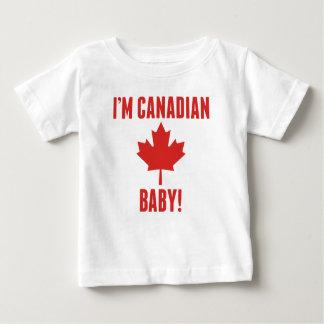 Eu sou bebê canadense camiseta