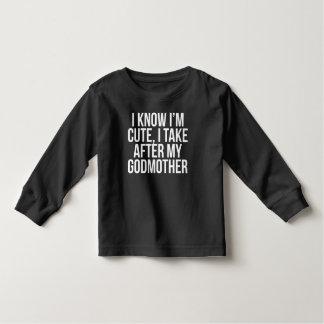 Eu sou bonito mim tomo após minha madrinha camiseta infantil