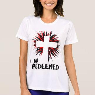 """""""Eu sou"""" camisa cristã inspirada Redeemed"""