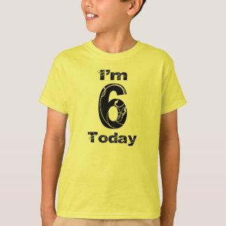 Eu sou camisa do aniversário de 6 hoje meninas