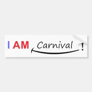 Eu sou carnaval adesivo para carro