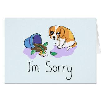 Eu sou cartão triste pesaroso do filhote de