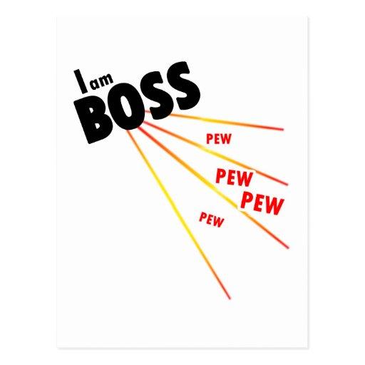 Eu sou chefe cartão postal
