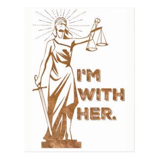 Eu sou com o cartão do protesto de justiça