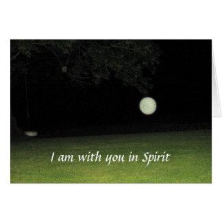 """""""Eu sou com você cartão no espírito"""""""