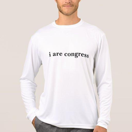 eu sou congresso t-shirts