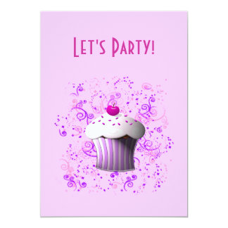 Eu sou convite doce do cupcake