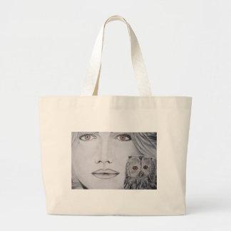 Eu sou coruja bolsa para compras