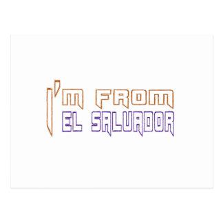 Eu sou de El Salvador. Cartão Postal