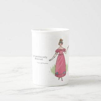 Eu sou desviado excessivamente - orgulho & preconc bone china mug