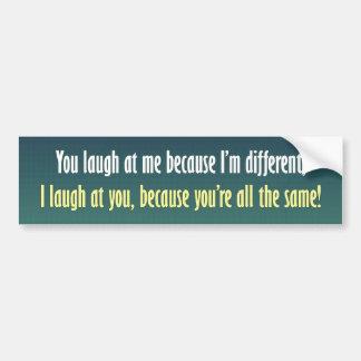 Eu sou diferente adesivo para carro