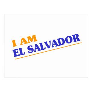 Eu sou El Salvador Cartões Postais