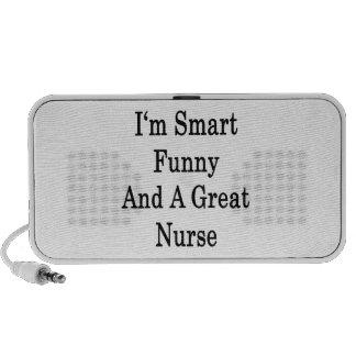 Eu sou engraçado esperto e uma grande enfermeira caixinha de som para notebook