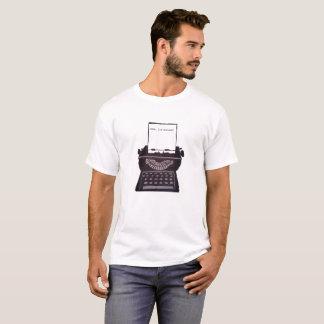eu sou escrita camiseta