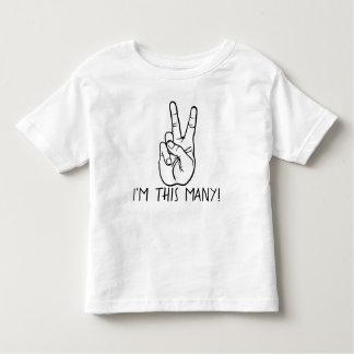 Eu sou estes muitos camisa do aniversário