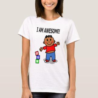 EU SOU IMPRESSIONANTE! Menino bonito dos desenhos Camiseta