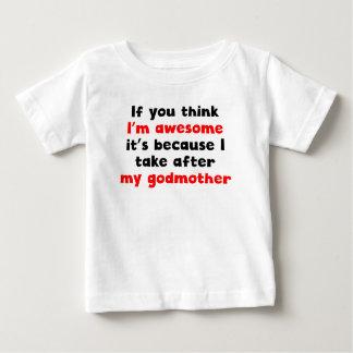 Eu sou impressionante mim tomo após minha madrinha t-shirts