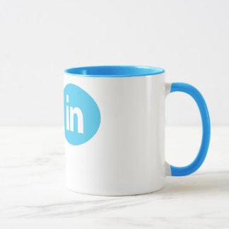 """Eu sou #in"" - Twitter & caneca de LinkedIn"