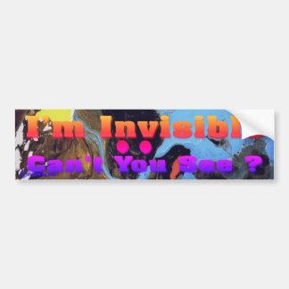 Eu sou invisível adesivo para carro
