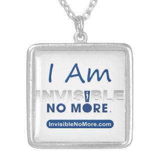 Eu sou invisível não mais - colar quadrada
