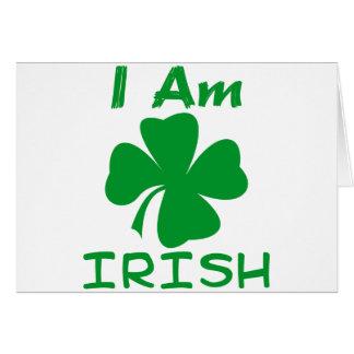 Eu sou irlandês cartão comemorativo