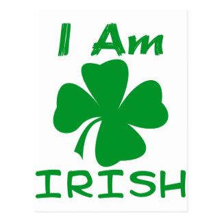 Eu sou irlandês cartão postal