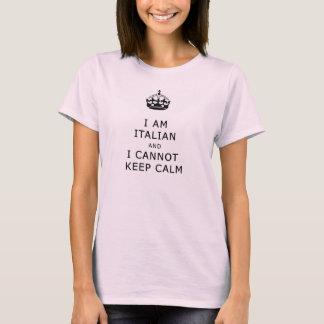 eu sou italiano e eu não posso manter a calma tshirt