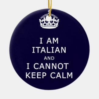 Eu sou italiano e eu não posso manter o eth ornamento de cerâmica redondo