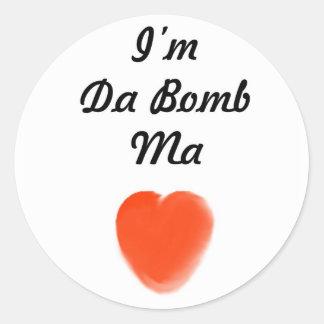 eu sou mães da bomba da Dinamarca Adesivo