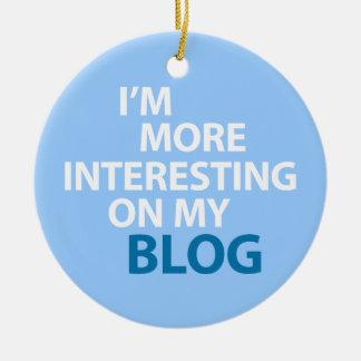 Eu sou mais interessante em meu blogue ornamento de cerâmica redondo