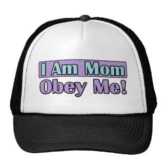 Eu sou mamã, obedeço-me! bonés