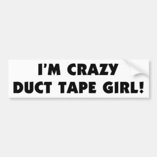 Eu sou menina louca da fita adesiva adesivo para carro