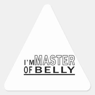 Eu sou mestre da dança do ventre adesivos em forma de triângulo