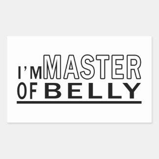 Eu sou mestre da dança do ventre adesivos retangulares