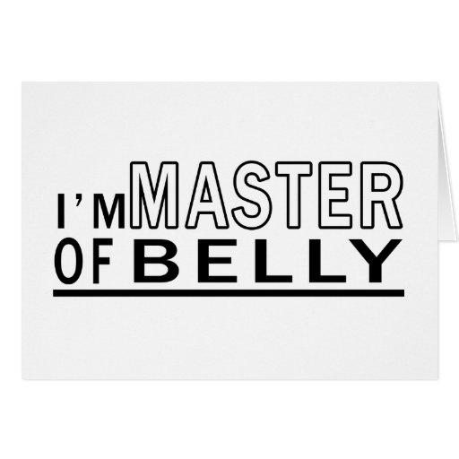 Eu sou mestre da dança do ventre cartao