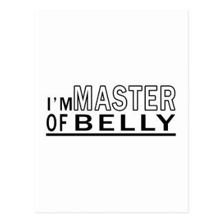 Eu sou mestre da dança do ventre cartão postal