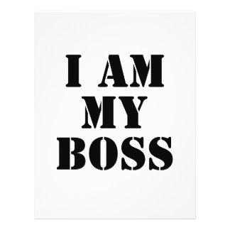 Eu sou meu chefe. Slogan. Panfleto