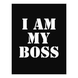 Eu sou meu chefe. Slogan. Modelo De Panfletos
