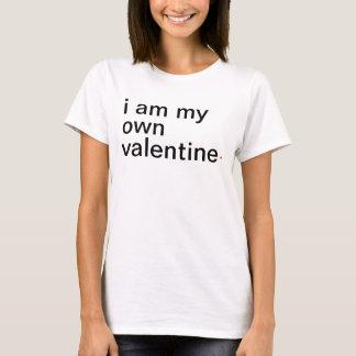 eu sou meu próprio valentine. camiseta