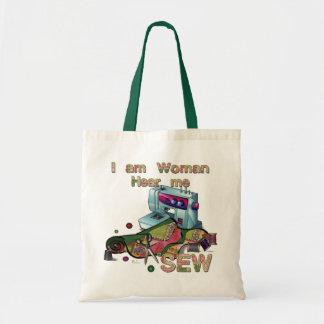 Eu sou mulher ouço-me Sew o bolsa Sewing