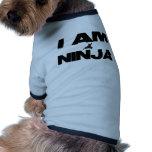 Eu sou Ninja Roupas Pet