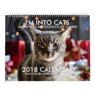 Eu sou NO CALENDÁRIO dos GATOS 2018 por Rebecca L.