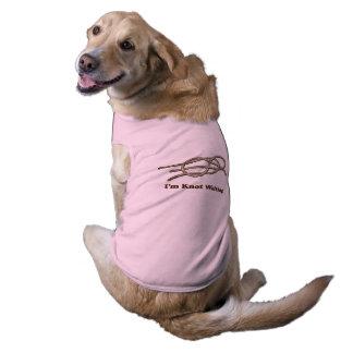 Eu sou nó que espera - roupa do animal de camisa sem mangas para cachorro