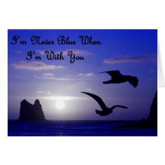 eu sou nunca azul com você cartão