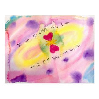 Eu sou o amor que eu sou cartão