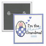 Eu sou o Avó-Azul orgulhoso Botons