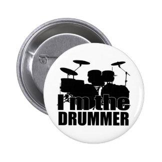 Eu sou o baterista bóton redondo 5.08cm