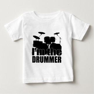Eu sou o baterista camiseta para bebê